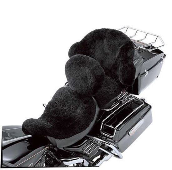 Sheepskin Seat Cover Touring on Harley Davidson Belts